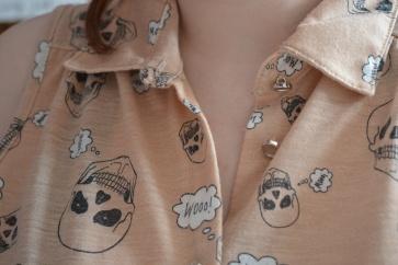 Skull shirt close up
