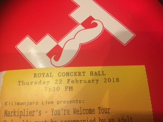 Markiplier's You're Welcome Tour Ticket and Paddle