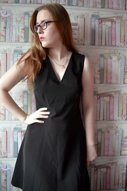 V Neck A-Line Dress