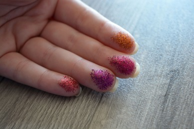 Glitter Swatches on Fingers