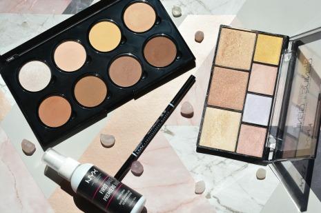 NYX Cosmetics flat lay