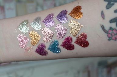 Glitter Palette Swatches