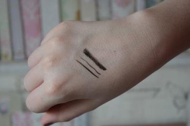 eyeliner swatches