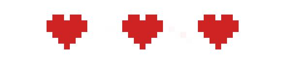 Pixel hearts