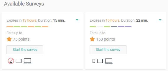 Available Surveys